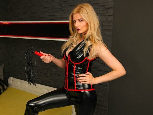 blonde mistress femdom cam