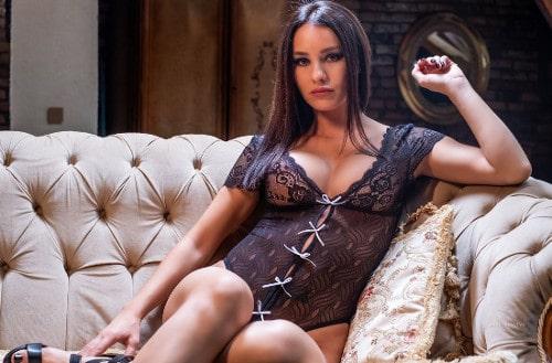 busty mistress wearing lingerie