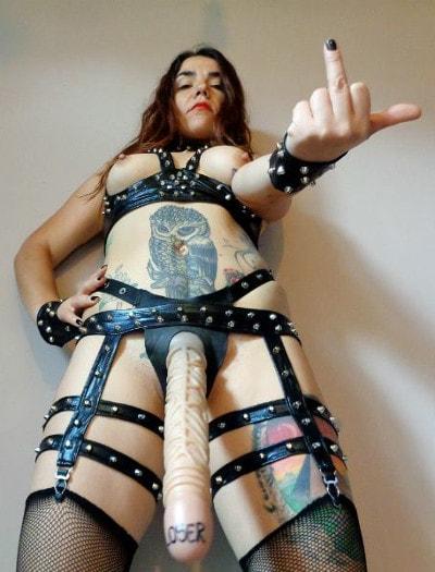 brutal strap on mistress