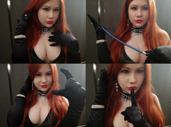 busty redhead pain mistress cracking whip