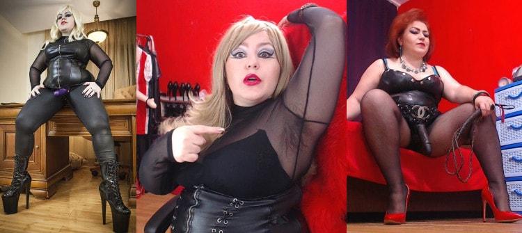 hairy bbw mistress wearing strapon dildos