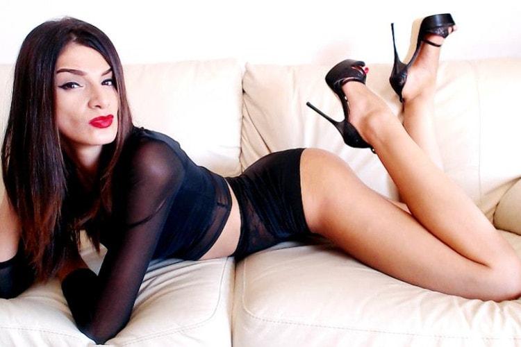 slender fetish mistress in panties & heels